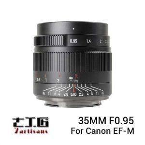Jual 7Artisans 35mm f0.95 for Canon EF-M Black Harga Murah dan Spesifikasi