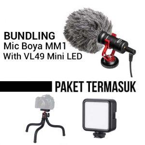 Jual Boya BY-MM1 Bundling VL49 Mini LED Harga Murah dan Spesifikasi