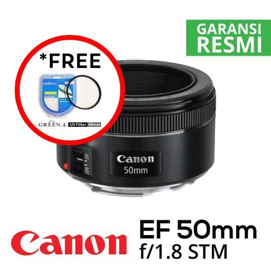 Jual Lensa Canon EF 50mm f/1.8 STM Harga Murah Surabaya & Jakarta