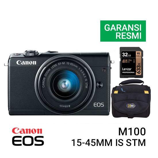 Jual Canon EOS M100 Kit EF-M 15-45mm Bundling Harga Murah dan Spesifikasi