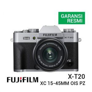 Jual Fujifilm X-T20 with XC 15-45mm F 3.5-5.6 Silver Harga Terbaik dan Spesifikasi