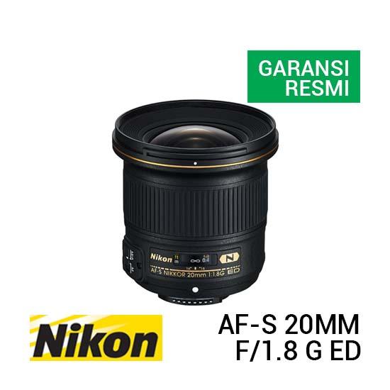 Jual Nikon AF-S 20mm f1.8 G ED Harga Terbaik dan Spesifikasi