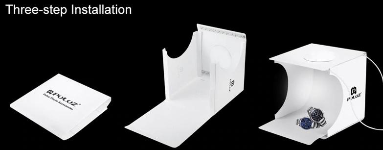 Jual Photo Studio Mini 2 LED - 20cm Harga Murah dan Spesifikasi