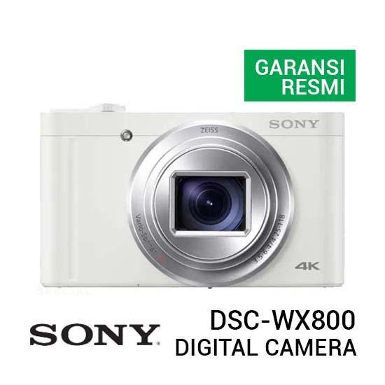 Jual Sony DSC-WX800 Cyber-shot Digital Camera White Harga Murah dan Spesifikasi
