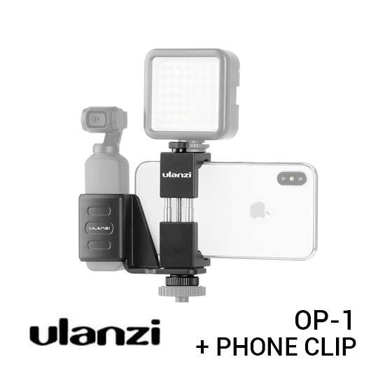 Jual Ulanzi OP-1 Osmo Pocket Clip with Phone Clip Harga Murah dan Spesifikasi
