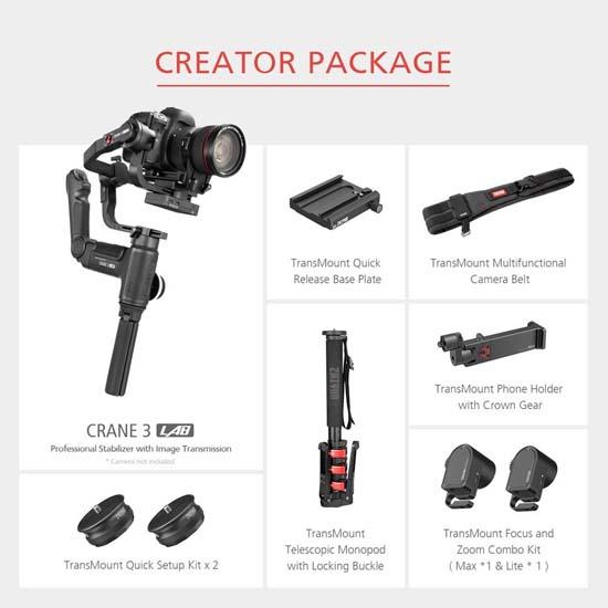 Jual Zhiyun Crane 3 Lab Creator Package Harga Terbaik dan Spesifikasi