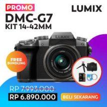 jual kamera mirrorless panasonic g7 bundling toko kamera online plazakamera surabaya dan jakarta